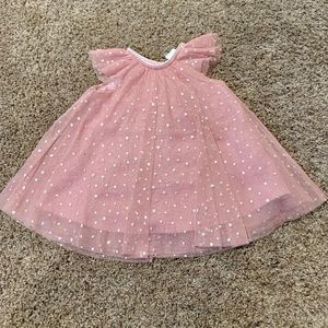 H&M Pink Tule Dress with Silver Stars